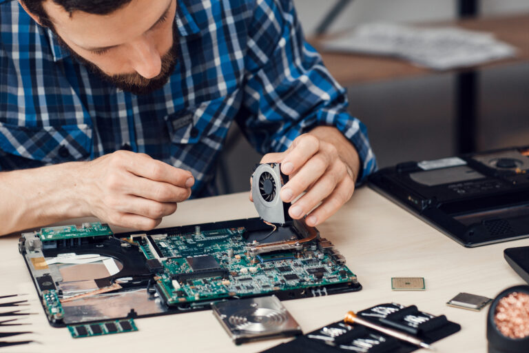 Electronic Technology Repair Computer Occupation Renovation Fix Business Concept