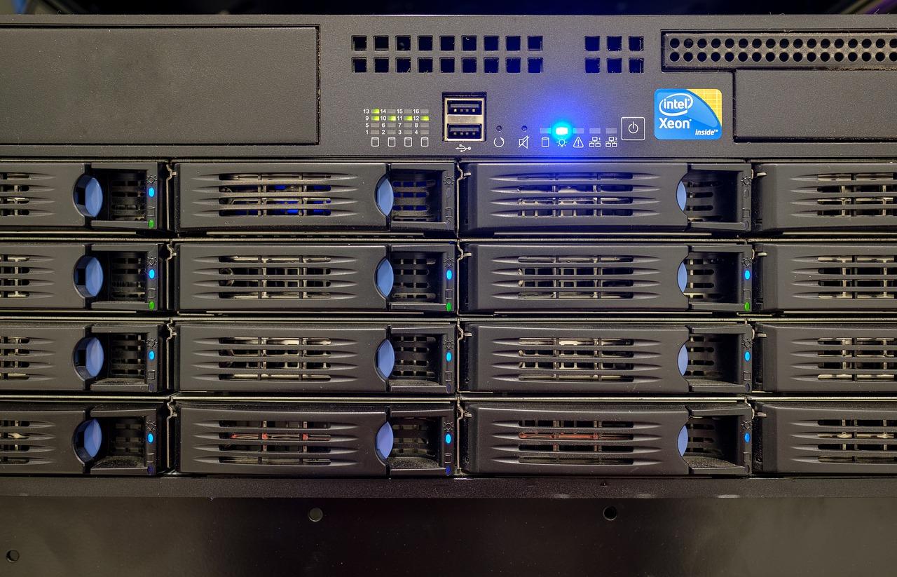 server, drive bay, hard drives